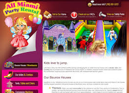 miami party rental party rental website design web designer express