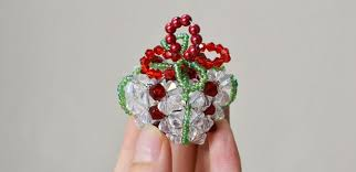 beaded christmas ornament to make u2013 handmade christmas gift craft