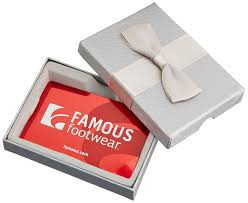 footwear 50 gift card in a gift box gift cards