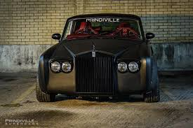 roll royce garage murdered out rolls royce silver shadow looks out of this world