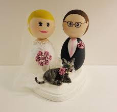 cat wedding cake topper dsmeebee groom and cat wedding cake topper