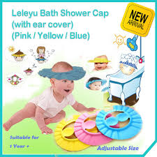 baby shower caps leleyu adjustable baby shower cap with ear cover baby gallery