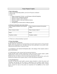 Sample Partnership Proposal 20 Free Project Proposal Template Ms Word Pdf Docx