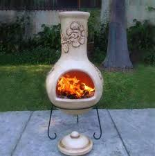 chiminea clay outdoor fireplace binhminh decoration