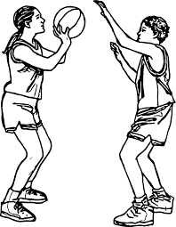 shooting basketball playing basketball coloring page