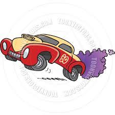 cartoon drag racing by ron leishman toon vectors eps 10547