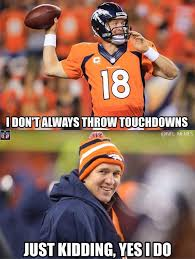 Payton Manning Meme - nfl memes on twitter peyton manning is putting on a clinic http