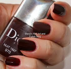 marias nail art and polish blog dior 970 nuit 1947 swatches and