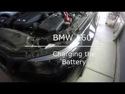 how to charge a bmw car battery bmw e60 5 series battery charge