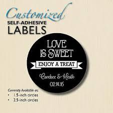 wedding favor labels is sweet enjoy a treat chalkboard stickers wedding favor