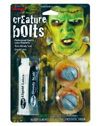 zombie makeup kit spirit halloween frankenstein bolts make up kit hermann monster screws made of