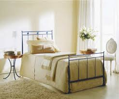 bedroom blue bontempi stella wrought iron bed with yellow