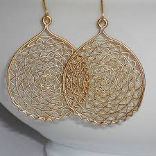 gold circle earrings gold earrings gold dangle earrings circle from mcutecharms on