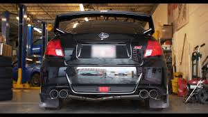 subaru exhaust system 2013 sti custom quad tip 4