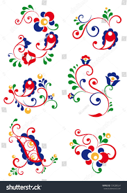 moravian ornaments stock vector 134280524