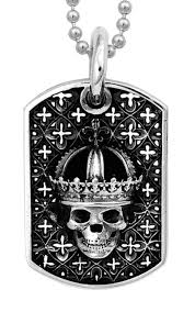 baby dog tags king baby crowned skull relic dog tag pendant boudi uk
