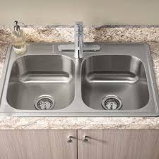 Kitchen Sink And Faucets by Colony 33x22 Double Bowl Kitchen Sink Kit With Faucet And Drain