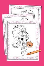 shimmer and shine halloween coloring pack nickelodeon parents