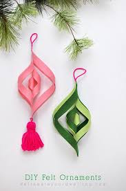 diy felt ornaments delineate your dwelling