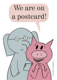 Barnes And Noble Postcards Mo Willems Postcard Elephant U0026 Piggie Amazing Authors