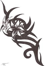 tribal flower and butterfly design