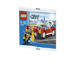 lego mini cooper polybag amazon com lego city fire car set 30221 bagged toys u0026 games