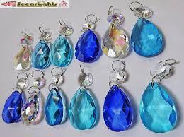 12 chandelier drops glass crystals droplets light prisms oval