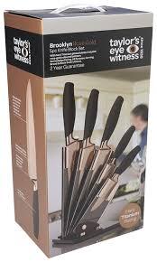 amazon com taylors eye witness brooklyn 5 piece fan design knife