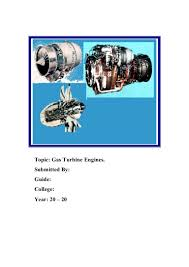 gas turbine engine project for diploma