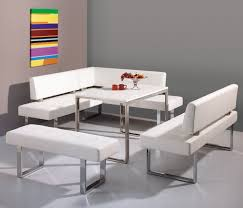 white modern corner breakfast nook furniture house design and