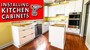 diy kitchen cabinets install how to install kitchen cabinets and remove them diy kitchen remodel pt 1