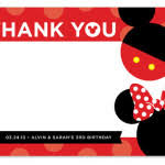 minnie mouse thank you cards mickey mouse thank you cards templates ideas anouk invitations