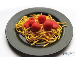 pate a modeler cuisine spaghetti à la bolognaise en pâte à modeler momes