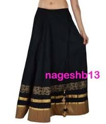 cotton skirts indian skirt skirt black cotton skirt with border
