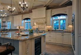 elegant long island kitchen design for a large scale room home