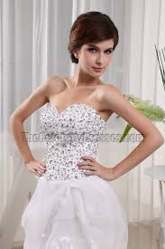 white strapless prom gown evening party dresses thecelebritydresses