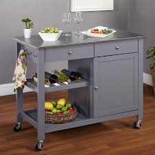 kitchen island cart stainless steel top tms columbus kitchen island with stainless steel top reviews