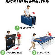 eastpoint sports table tennis table eastpoint sports easy setup fold n store table tennis table 12mm