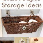Decorative Toilet Paper Storage Toilet Tissue Paper Rolls Holder Storagedecorative Faux Regarding
