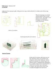 villa savoye analytical drawing