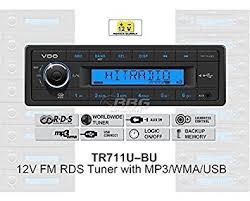 vdo 12 volt car radio rds tuner mp3 wma usb co uk