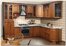 meubles de cuisine en bois modele de cuisine en bois cuisine mesure meubles rangement