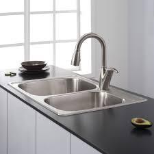 Kitchen  Bar Sinks Drop In Stainless Steel Kitchen Sinks - Home depot kitchen sinks