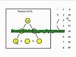 factor trees of 12 and 5 youtube