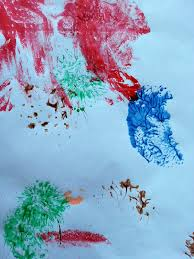 ball splat painting choices for children