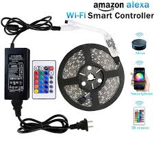 fans that work with alexa wentop wifi wireless smart phone controlled led strip light kit with