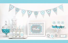 Winter Party Decor - winter wonderland party decorations starter kit