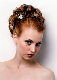 wedding updo hairstyles for long hair with flower
