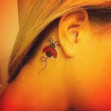 Tattoo Ideas For Behind Ear Top 25 Best Ladybug Tattoos Ideas On Pinterest Aunt Tattoo Fly