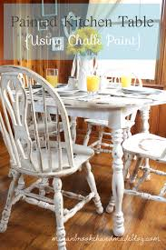 how to revamp your old kitchen table using chalk paint painted